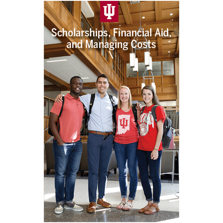 Scholarships, financial aid, and managing costs brochure front cover
